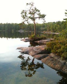 Good morning! #reflection #lake #tree #pine #nature #landscape #woods #explorenature #ig_finland #visitfinland #thisisfinland @ourfinland #kvarnträsk #siuntio #cliff by hippisukka