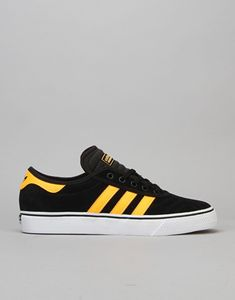 Adidas Adi-Ease Premiere Skate Shoes - Black/Solar Gold/White