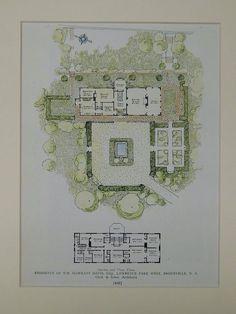 Residence of Wm. Hammatt Davis, Lawrence Park, Bronxville, NY, 1925, Original Plan. Clark & Arms.
