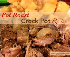 Easy Pot Roast Crock Pot Recipe - MyNaturalFamily.com #roast #recipe