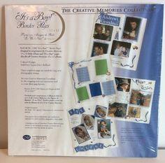It's A Boy Border Creative Memories 5 Sheet 10 Pages Blue Corner Design Baby New #CreativeMemories