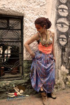 Falda larga, étnica, boho, pachamamesca, conectada! Chiros Bendito Amor! Mujer  #ChirosBenditoAmor #MujerMedicina #Chumbe #MedicinaFemenina #plantasSagradas #Tejido #Bakatá #Muysqa #MujerPajaro #Máscaras #Amor #Magia #retazos #natural #Volar