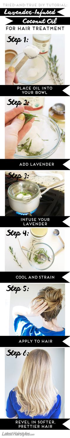 This lavender-infused #coconutoil for #hair treatment will blow your mind!