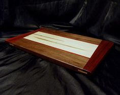 Canary Wood Cutting Board w/ Angled Padouk Ends by DPcustoms