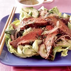 Oriental Grilled Beef Salad #healthyfamilydinners