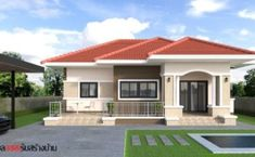 Terrace Design For Bungalow House In Philippines Ideas bungalow house plans with attached garage title. Best bungalow house plans with attached garagebungalow house plans with attached garage designb. Modern House Floor Plans, Modern Bungalow House, My House Plans, Bungalow House Plans, Family House Plans, Bungalow Designs, Simple House Design, House Front Design, Affordable House Plans