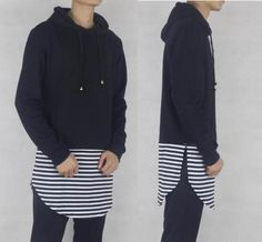 Striped Hoodie / High State Apparel