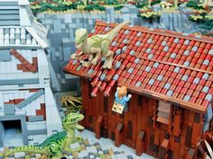 Lego Jurassic Park, The Lost World, Lego Creations, Lego City, More Pictures, Lego Star Wars, Legos, Brick, Display