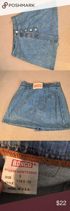 Vintage boho denim skirt Size 9, no flaws, ships today💕 BONGO Skirts Mini