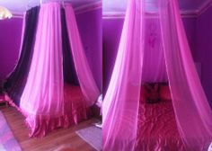 Pink +Black Canopy  Used to have one of these(: