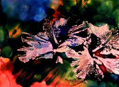 Alcohol Inks on Yupo Painting Hibiscus from Kauai by kauaiartist