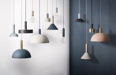 Abat-jour Dôme / Pour suspension Collect Abat-jour Dôme / Rose - Ferm Living - Décoration et mobilier design avec Made in Design