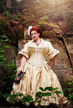 Plus Size Victorian Wedding Dress Corseted Jacket by KMKDesignsllc, $825.00