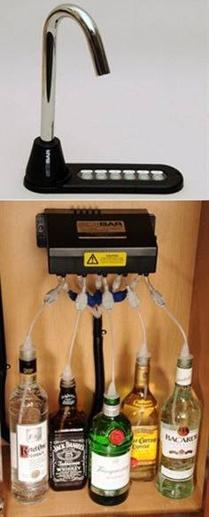 home bar; so cool for a kitchen or a man cave!! - Click image to find more Products Pinterest pins