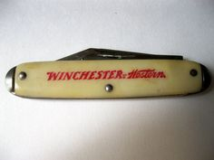 The Winchester Arms Company, famous for manufacturing rifles, started producing knives in 1919.   Their motto for the knife collection was