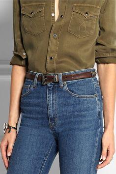 Brown leather (Calf) Buckle fastening Designer color: Marron