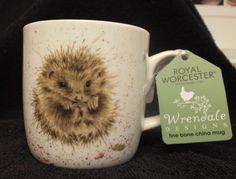 Royal-Worcester-Wrendale-039-Awakening-039-Hedgehog-Bone-China-Mug