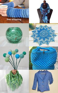 Blue and green! by Julia on Etsy--Pinned with TreasuryPin.com