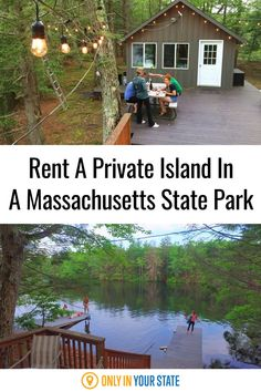 If you're looking for a unique, affordable getaway, consider renting this beautiful private island in a Massachusetts state park. Enjoy camping, boating, swimming, hiking, and more. A nature lover's paradise, perfect for summer fun, you'll love the island and its cozy cabins. Summer Travel, Summer Fun, Dream Vacations, Vacation Trips, Places To Travel, Places To See, Travel Memories, Space Travel, Staycation