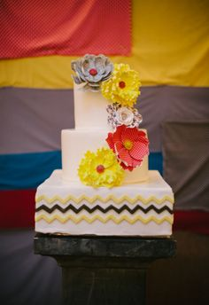 This cake is so beautifully colorful. // Jen Fariello Photography