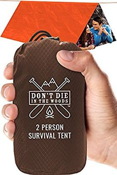 Amazon.com : World's Toughest Ultralight Survival Tent • 2 Person Mylar Emergency Shelter Tube Tent + Paracord • Year-Round All Weather Protection For Hiking, First Aid Kits, & Outdoor Survival Gear : Sports & Outdoors