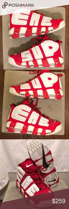 3eca967d028 Description  Supreme Nike air more uptempo Great condition Size Sold by  pantherxshirt.
