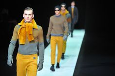 Emporio Armani Fall-Winter 2013-2014 Menswear collection Armani, Gucci, Prada are among the dozens of designer labels, including Britain's Vivienne Westwood, which will take to the Milan catwalks with their pret-a-porter collections for the autumn and winter of 2014-2015.