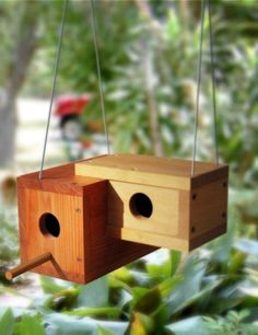 40 Beautiful Bird House Designs You Will Fall In Love With - Bored Art - Modern Design Bird House Feeder, Diy Bird Feeder, Bird House Plans, Bird House Kits, Decorative Bird Houses, Bird Houses Diy, Modern Birdhouses, Birdhouse Designs, Birdhouse Ideas