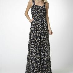NWT Lace Embellished Floral Maxi Dress New with tags. From the Moon Collection this beautiful navy maxi dress with lace embellishments across the bodice, lining the straps and accenting around the bottom of the skirt. Elastic sits at the natural waistline. Straps are wide enough to wear a bra (yay!!!) and is more comfortable to wear. Sizes available are Small, Medium and Large. Please do not purchase this listing. Comment below with the sizing option you would like and I will create a…