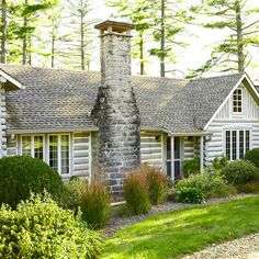 love the grey logs . perhaps an addition or outbuildings like this? home exterior, Storybook Log Cabin Log Cabin Kits, Log Cabin Homes, Cabin Ideas, House Ideas, Lake Cabins, Cabins And Cottages, Log Homes Exterior, Hm Home, Cabin In The Woods