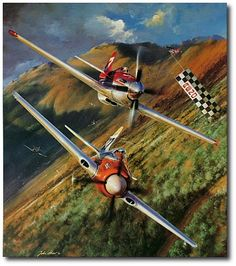 AVIATION ART HANGAR - The Unlimiteds by John Shaw (Reno Air Races)