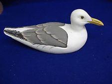 (J) Wooden Herring Gull #7399 by Brookshire. Handpainted.