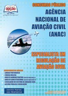 Apostila ANAC Especialista em Regulação de Aviação Civil (PDF, Download, Digital, Impressa)