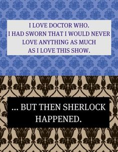 Oh how too true this is. Not that I don't love them both... but ohhh how Gatiss and Moffat rip my heart out...