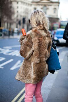 Fur + Pink Pants