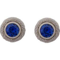 Malcolm Betts Sapphire & Platinum Stud Earrings at Barneys.com Stud Finder, Studs, Sapphire, Stud Earrings, Fashion, Moda, Fashion Styles, Stud Earring, Stud Earring