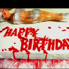 Dexter birthday cake maybe for my best friend ;) A whole Miami, Crime Scene, Beach thing maybe pretty awesome!