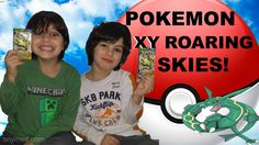 #VIDEO: Little Brothers Open #Pokemon XY Roaring Skies Booster Packs! AWESOME PULL! Jenna Em Channel  WATCH: https://youtu.be/gZZT0lG3QjU