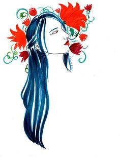 Flower Arranger – Red Moth Art