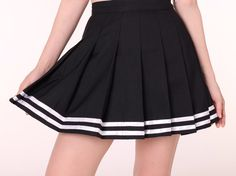 Ready To Post - Black Cheerleading Skirt Cheerleader Skirt, Cheerleading, Tennis Skirts, Cheer Skirts, Black Cheerleaders, Trendy Outfits, Girl Outfits, High School Fashion, White Skirts