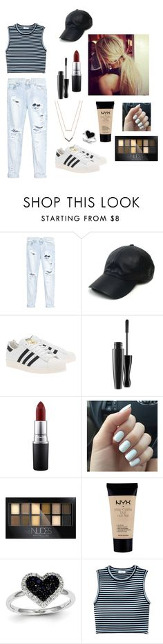 """""""Chill Day"""" by punky804 on Polyvore featuring One Teaspoon, Vianel, adidas Originals, MAC Cosmetics, Maybelline, NYX, Kevin Jewelers, A.L.C. and Michael Kors"""