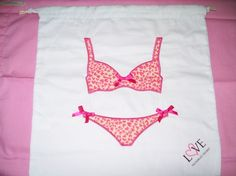 Victoria's Secret Swimsuit Travel Bag and Naughty and Nice Lingerie Zippered Mesh Laundry Bag #Accessory #Travel #Lingerie #LaundrySolution #VictoriasSecret