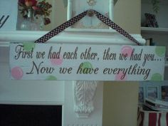 Distressed vintage Cottage Nursery Wood Sign by tayssweetboutique, $29.95