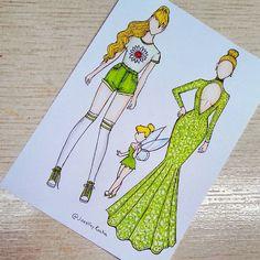 skizzen zeichnen Tinkerbell by joeslleyrocha Cute Disney Drawings, Kawaii Drawings, Art Drawings Sketches, Cute Drawings, Disney Kunst, Arte Disney, Disney Art, Fashion Design Drawings, Fashion Sketches