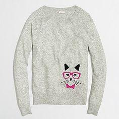 Factory intarsia cat sweater