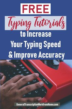 Free Typing Tutorials to Increase Your Typing Speed and Improve Accuracy - Work from Home Jobs, Online Jobs & Side Hustles Typing Skills, Typing Hacks, Typing Jobs, Transcription Jobs For Beginners, Free Typing, How To Make Money, How To Find Out, Business Education, Data Entry