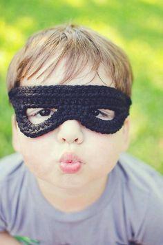 Crochet mask for kids