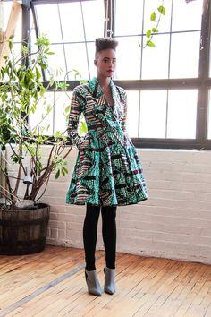 Gugu Wrap Coat Dress by Demestiks ~African fashion, Ankara, kitenge, African women dresses, African prints, Braids, Nigerian wedding, Ghanaian fashion, African wedding ~DKK