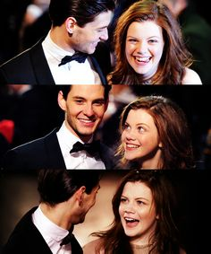 "Ben Barnes & Georgie Henley ""Don't know why, but I think this is adorable"""