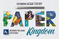 Paper Kingdom For Photoshop by Creative Veila on @creativemarket